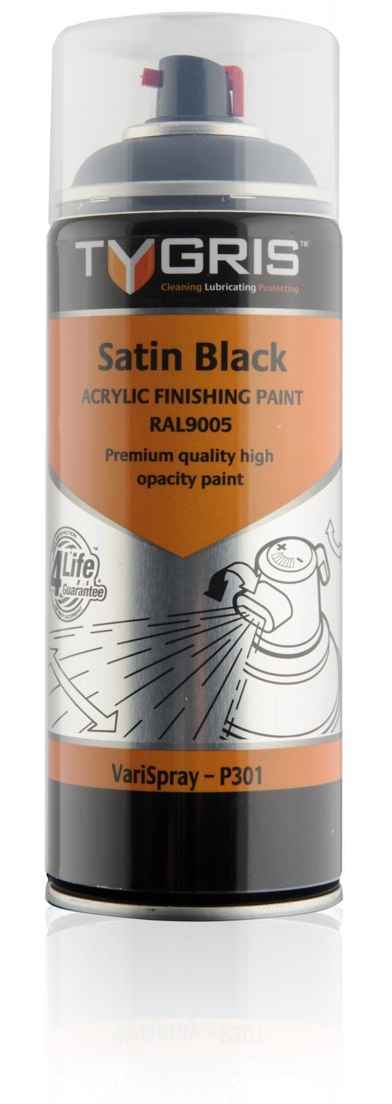P301 Satin Black Paint RAL9005 400ml