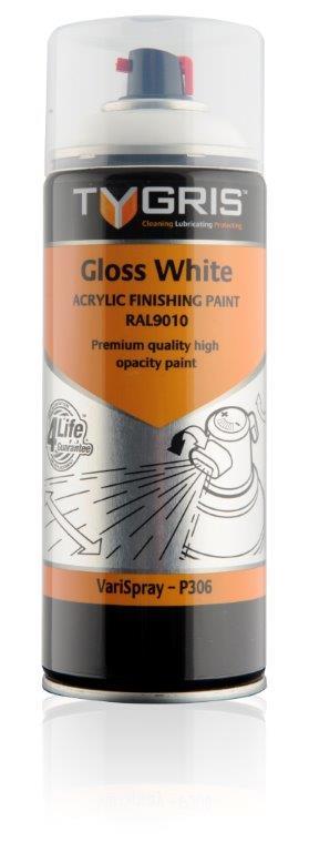 P306 Gloss White Paint RAL9010 400ml