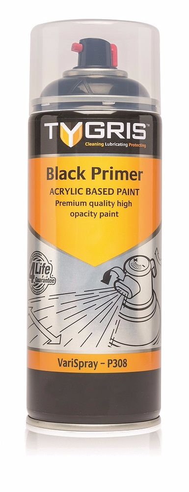 P308 Black Primer Paint 400ml Vari-Spray