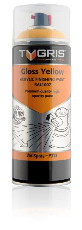 P313 Gloss Yellow Paint RAL1007 400ml