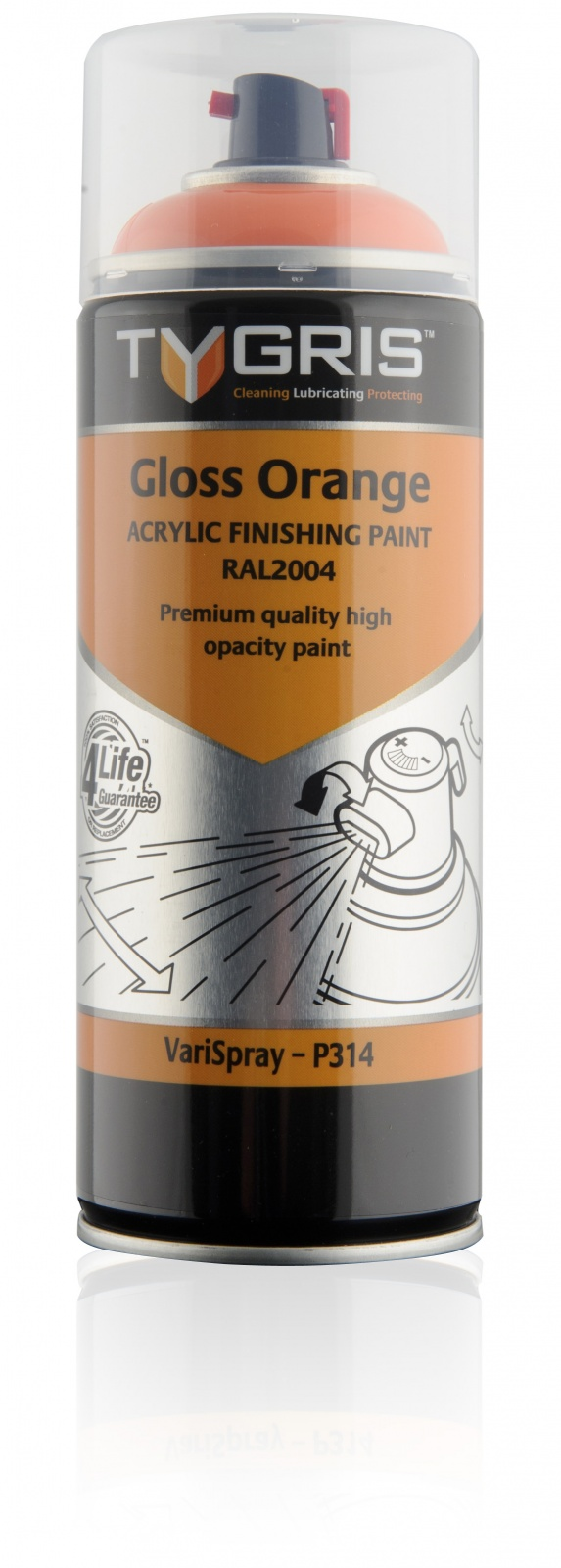 P314 Gloss Orange Paint RAL2004 400ml