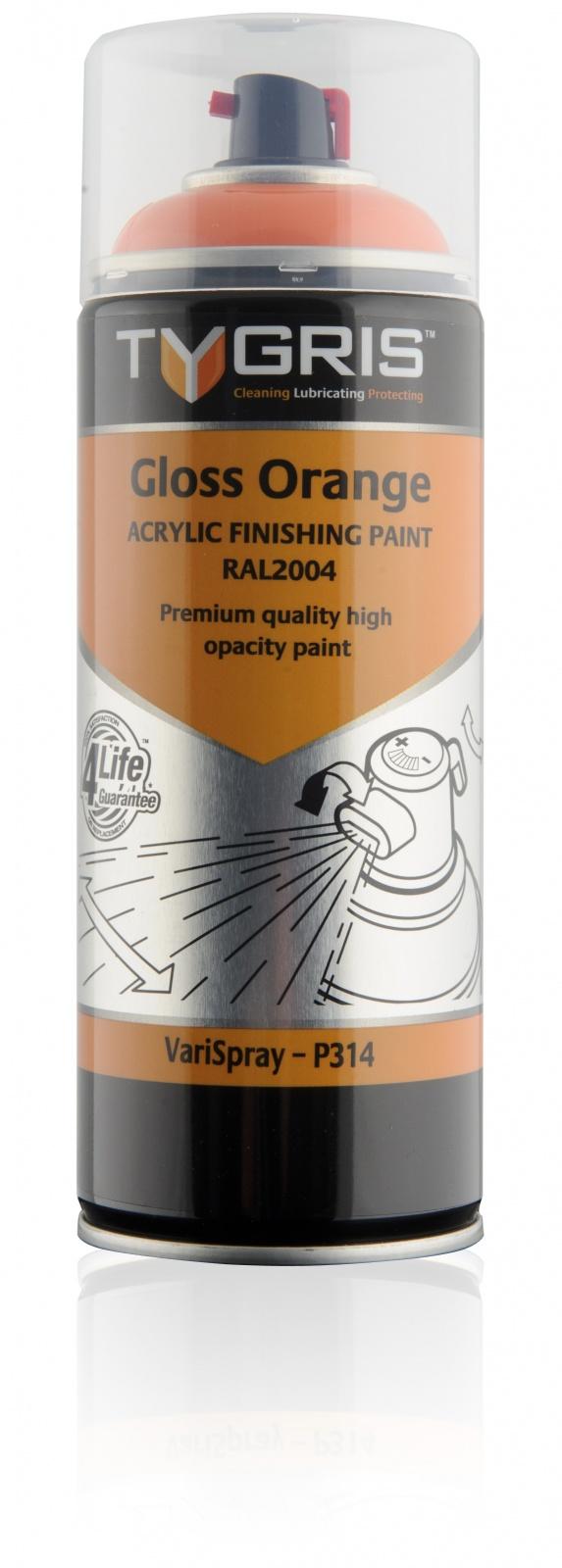 P314 Gloss Orange Paint RAL2004 400ml
