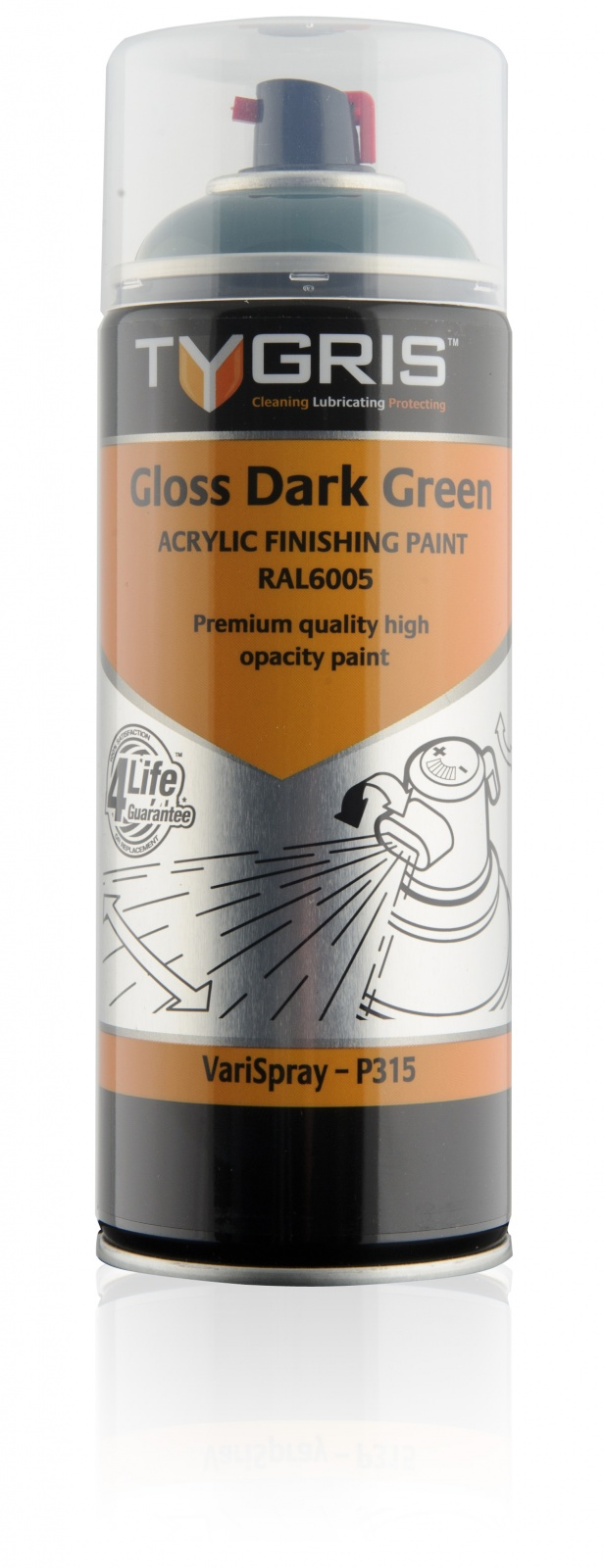 P315 Gloss Dark Green Paint RAL6005 400ml