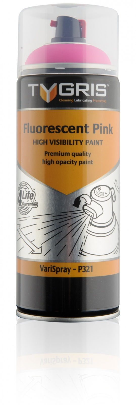 P321 Pink Safety Paint 400ml Vari-Spray