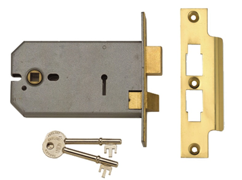 2077-5 3 Lever Horizontal Mortice Lock 124mm