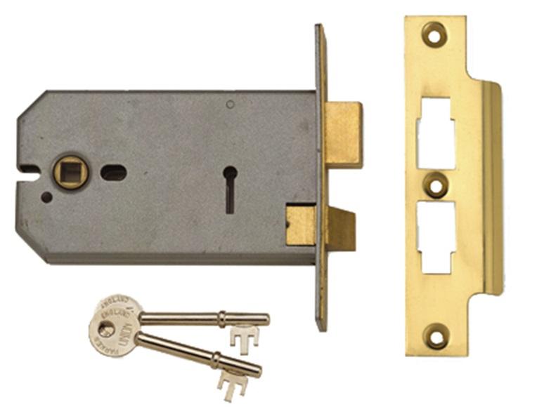 2077-6 3 Lever Horizontal Mortice Lock 149mm
