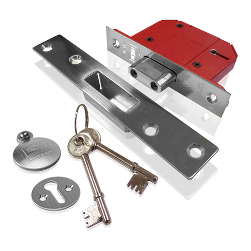 Union 5 Lever Mortice Deadlock 2.1/2  SC