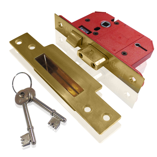 Union 5 Lever Mortice Sashlock 2.1/2  Brass