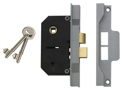 2242 2 Lever Mortice Rebated Sash Lock 2 1/2