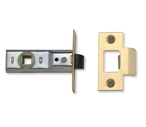 Union J2648 Tubular Mortice Latch 3.5'' Brass