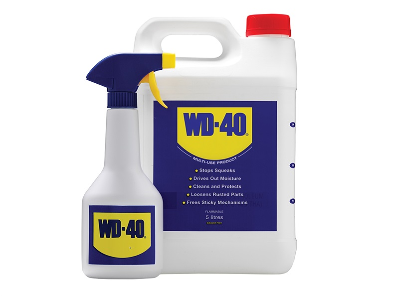 WD-40 5 Litre Jerry Can Plus Spray Bottle