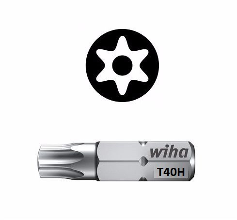 Wiha Standard Bit Pin Torx T40 x 25mm  01733