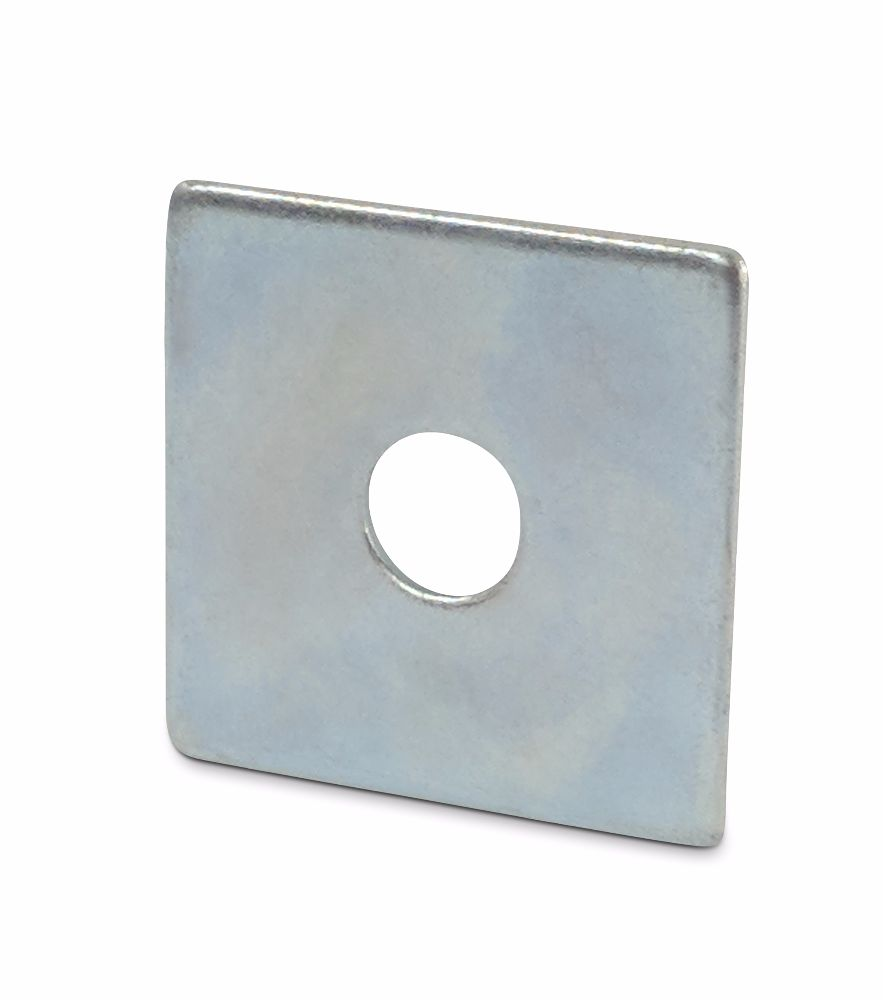 M10x40x3mm Square Plate Washers BZP