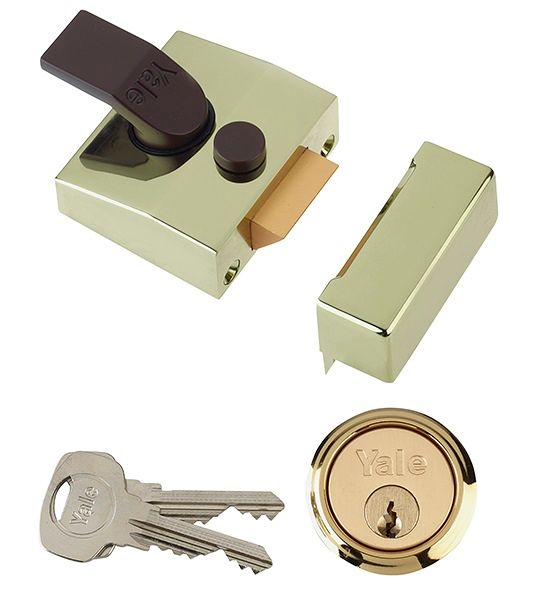 Yale 85 D/Locking Nightlatch Brass 40mm