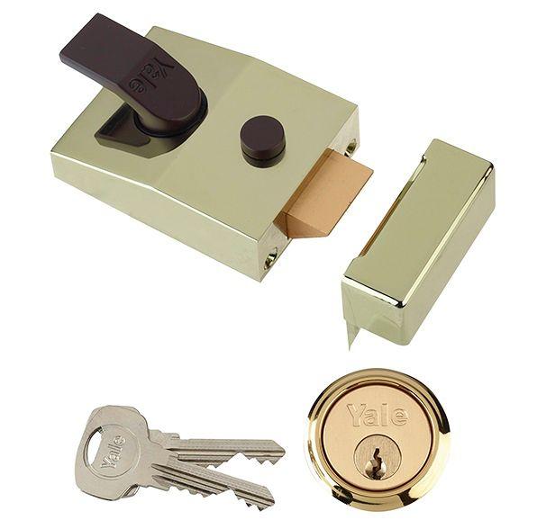 Yale 89 D/Locking Nightlatch Brass 60mm