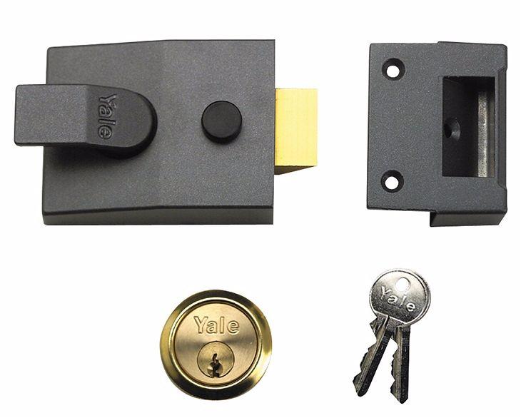 Yale 89 D/Locking Nightlatch DMG PB 60mm