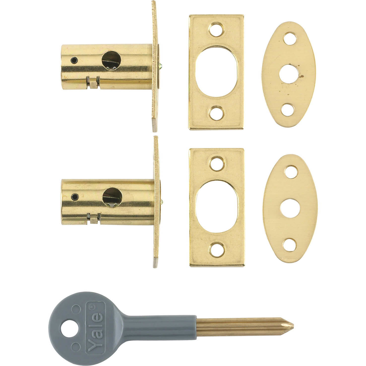 8001 Security Bolts Brass Finish Pack of 2 Vi