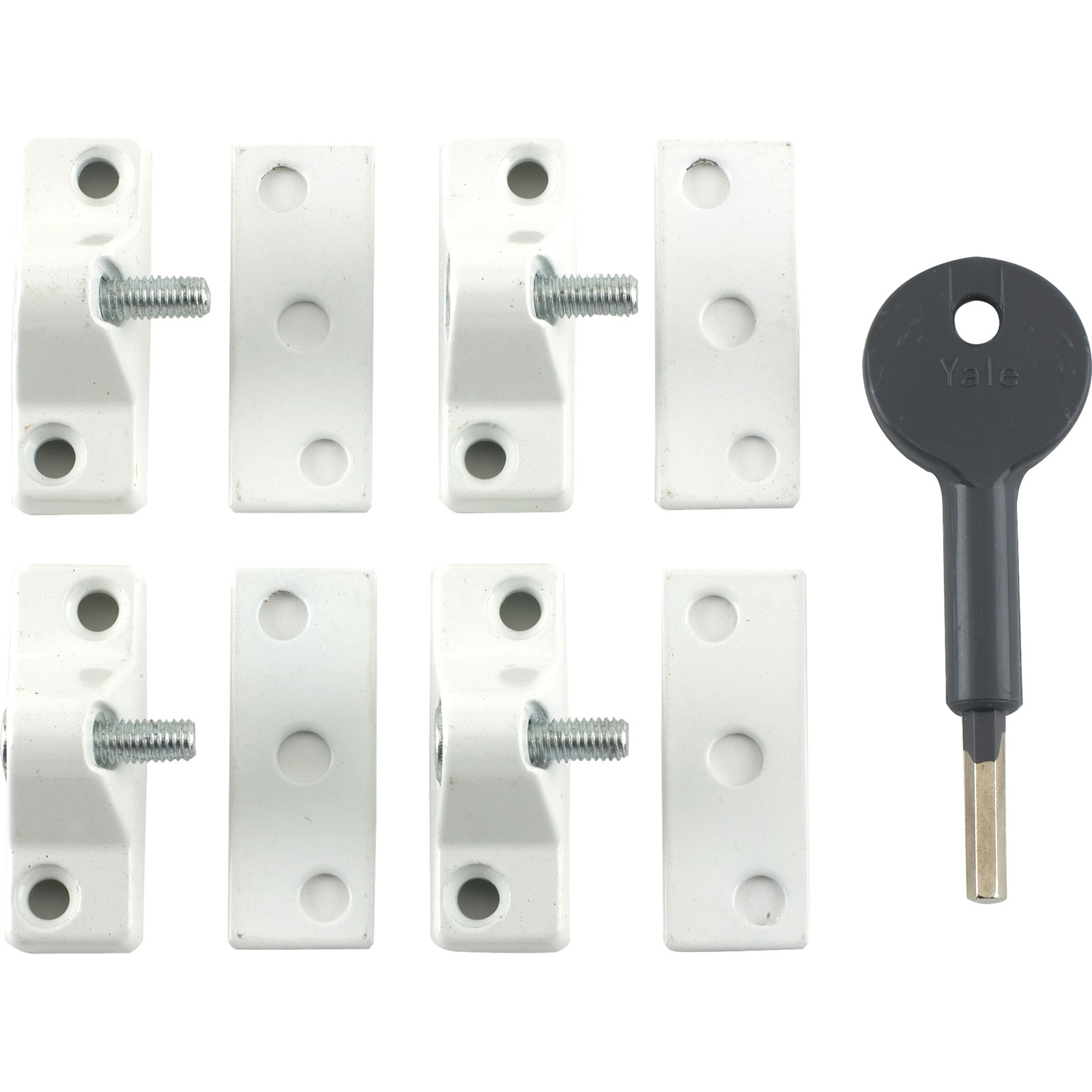 8K118 Economy Window Lock White Finish Pack o