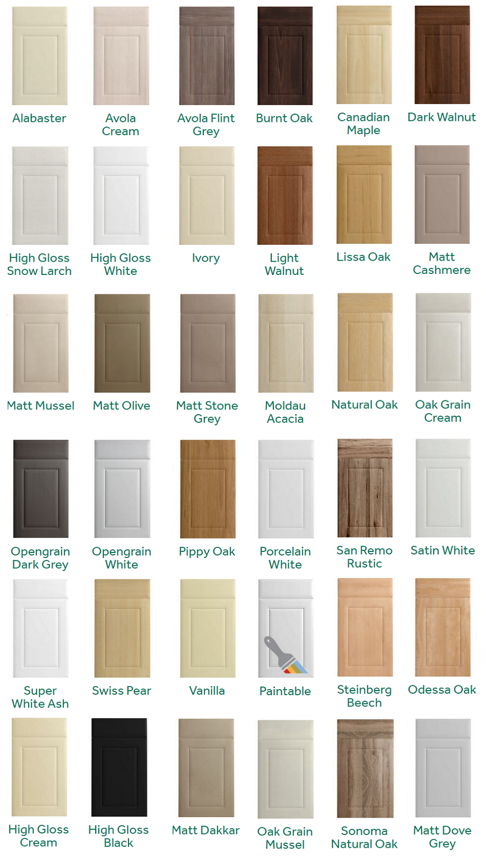 Replacement Kitchen Door Styles
