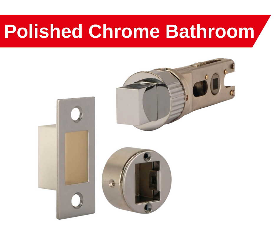 polished chrome smart latch bathroom bolt