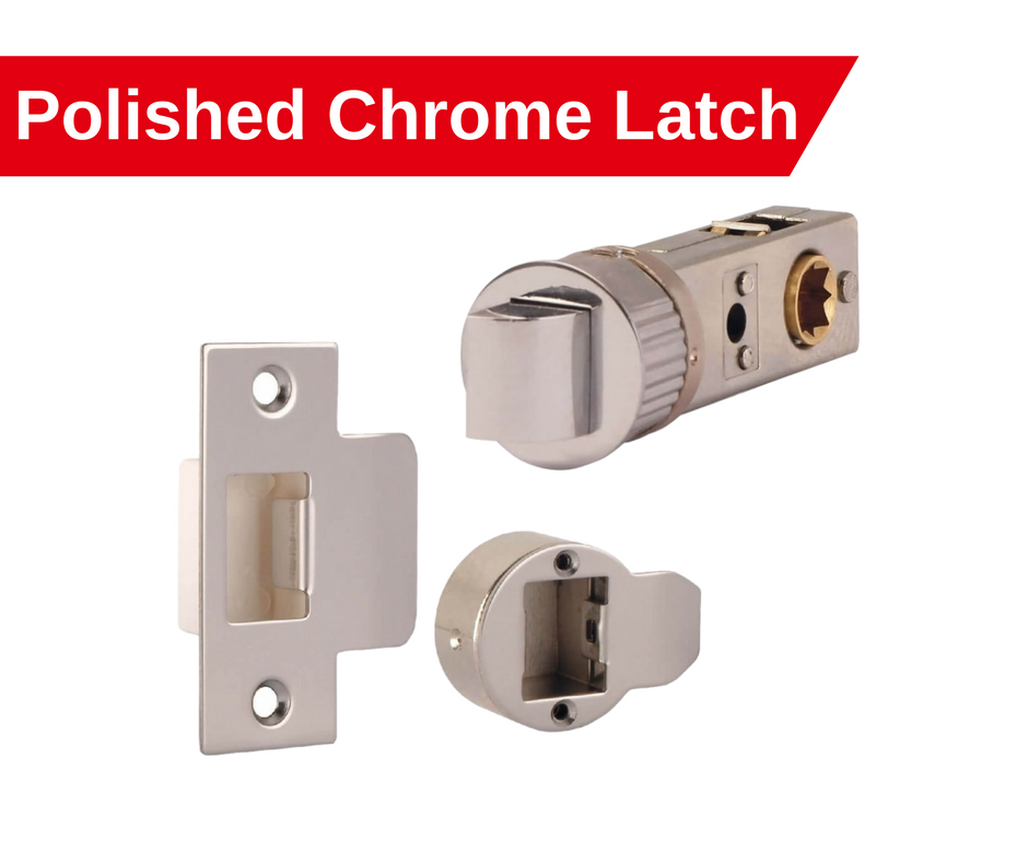 polished chrome smart latch