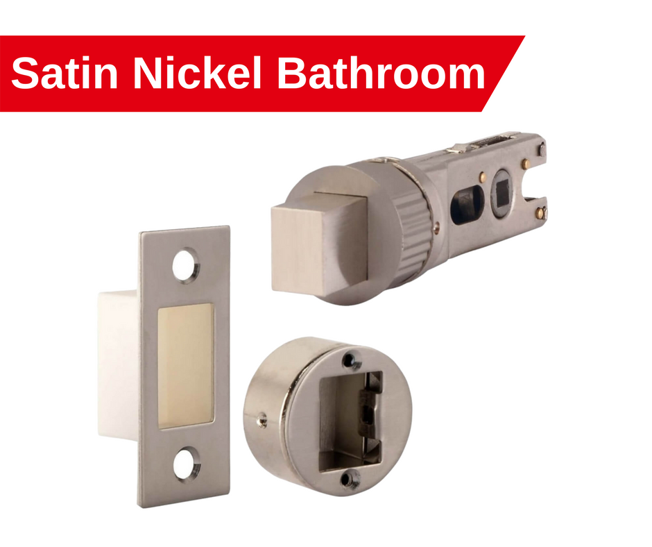 satin nickel smart latch bathroom bolt